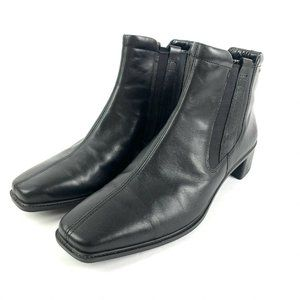 Ecco Ankle Boots 41 Lightweight Black Leather
